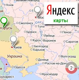 Все фирмы на карте Яндекс